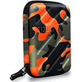 Tizum TM-GDO-122-ORG-A Electronic Travel Gadgets and Accessories Organizer (Camouflage Orange)