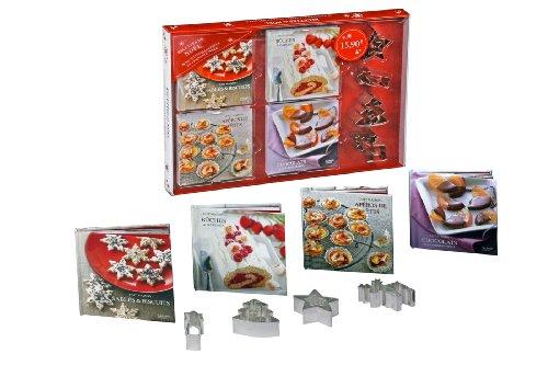 Coffret 4 mini-livres Recettes de Noël