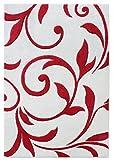 Teppich Wohnzimmer Carpet modernes Design VOQUE Ornament Rug 100% Polypropylene 60x120 cm Rechteckig Rot | Teppiche günstig online kaufen