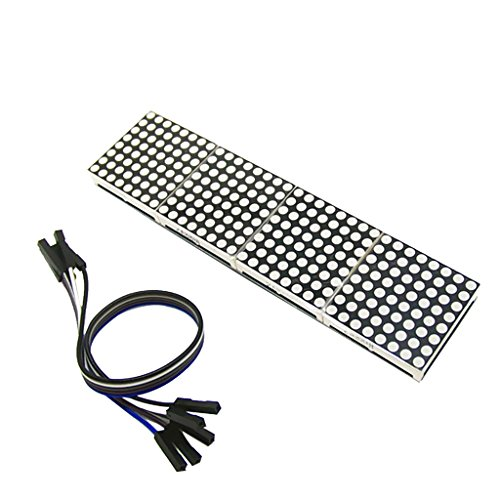 MagiDeal MAX7219 LED Dot matrix 8-Digit Digital Display Steuermodul für Arduino (Dot-matrix-led)