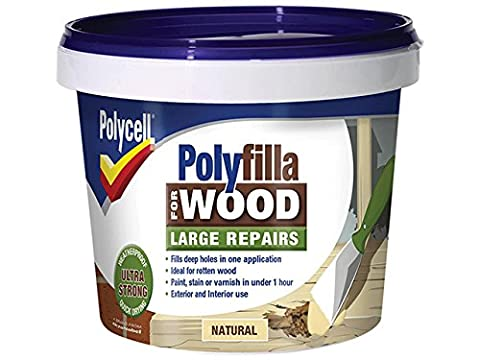 Polycell 5207194 Polyfilla 2 Part Wood Filler, 750 g, Natural (Pack of 2)