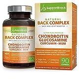 Supportiback Natürlicher Rücken-Wirkkomplex: Rücken- und Gelenksunterstützung - Ultrareines Chondroitin, Glucosamin, Kurkumin und MSM höchster Qualität