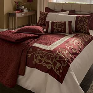 Persia Duvet Set Luxury Bedding Set Double Bed Size Burgundy
