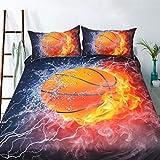 3D Fußball Basketball Fußball Bettbezug-Set Kinder Schlafzimmer Set Super weich Bettwäsche 3 stücke Enthalten 1 Quilt Abdeckung 2 kissenbezüge Teen Geschenk,Kung fu Ball,180cmx220cm