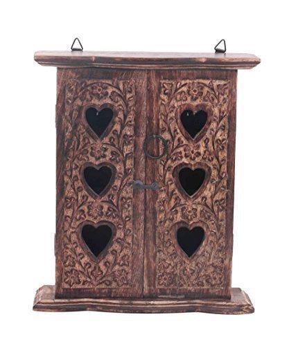 Scatola di legno Portachiavi doppia porta con