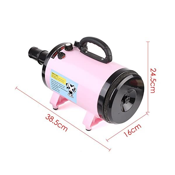MVPOWER 2800W Dog Pet Grooming Hair Dryer Professional Hairdryer Blaster Washer Heater Pink 2