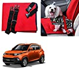 Auto Pearl - Premium Make Red Black Car Pet Single Seat Cover For - Mahindra KUV 100