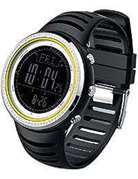 Sunroad® FR802B de reloj deportivo 5ATM Digital EL retroiluminada w/altímetro barómetro Brújula cronómetro hora mundial