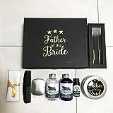 Deluxe Vater der Braut Hochzeit Morning schwarz und gold Geschenk-Box gefüllt mit Hochzeit Morning...