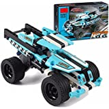Wishkey Stunt Truck Racer King Steerer Pullback Technic Car 142 Pcs Building Block Set