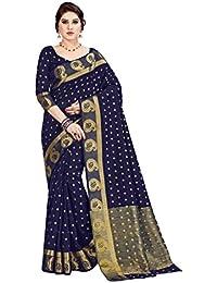 Aarti Apparels Women's Silk Saree With Blouse Piece (Sairat2-6001_Multicolour)
