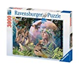 Ravensburger - 17033 - Puzzle - 3000 Pièces Loups au clair de lune