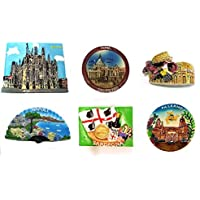 SET 5E - 6 PIECES FRIDGE MAGNETS MAGNET FOR SOUVENIR OF ROME Rome Souvenir From Italy