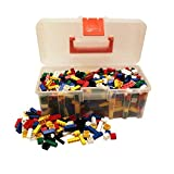 Q-Bricks Basic Mix-Valigetta-750 Bausteine, bunt
