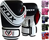 RDX Boxhandschuhe Kinder Muay Thai Boxsack Training Sparring Kickboxen Sandsack Junior Maya Hide Leder Boxing Gloves (MEHRWEG)