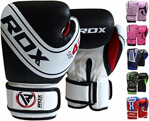 RDX Guantoni Boxe Bambini Muay Thai Bimbo Guanti da Sacco Junior Sparring Allenamento Kickboxing Maya Hide Pelle Boxing Gloves Pugilato