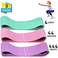 CAMTOA Resistance Bands,Premium Exercise Loops,3 Resistance Level Workout Booty Bands,Fitness Exercise Bands with Non-Slip Designs,Workout Equipment for Improving Mobility and Strength
