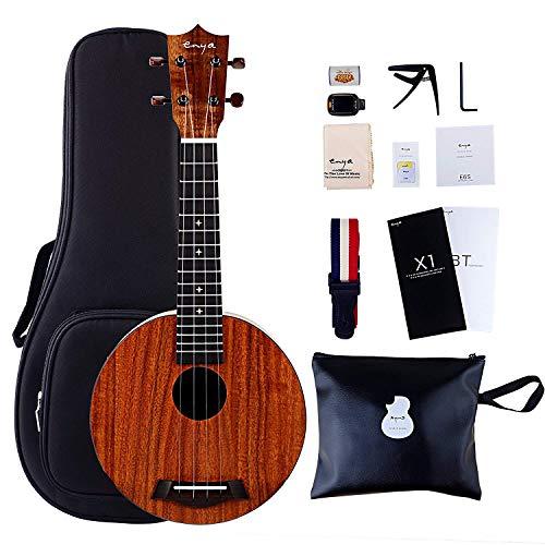 Ukulele 21 Zoll, rundes Design mit Tuner, Capo, Straps und Tools, ideal für Musikliebhaber