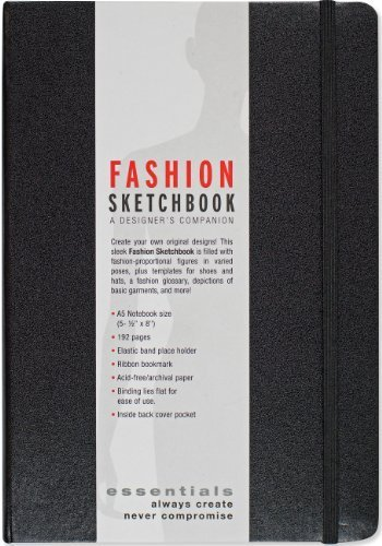 Essentials Fashion Sketchbook (360 Figure Templates to create your designs!) by Peter Pauper Press (2013-08-25)