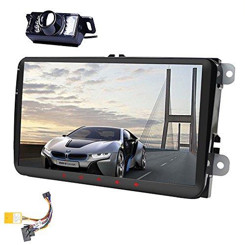 9Zoll (22,86 cm), Android, 6.0Doppel-DIN-Haupteinheit für VW-Auto, Stereo, Golf, Jetta, Passat, Polo, Autoradio-Empfänger, unterstützt FM, AM, RDS, CanBus Multimedia-System, Quad Core mit GPS-Navigation, Radio, Stereo, inkl. kostenloser Rückfahrkamera in HD-Qualität
