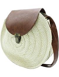 82c65885a MISEMIYA - Bolsos rafia para mujer bolso shopper bolso de mano SR-LL806