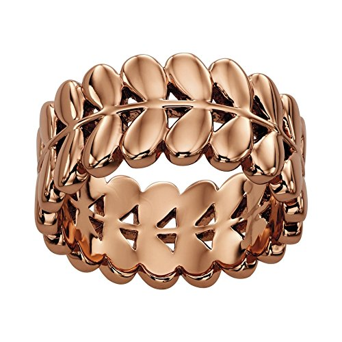 Orla Kiely Buddy Rose Gold Stiel Ring–Größe R