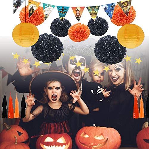een-Geburtstagsfeier-Dekorationen - Papierblumen-Laternen-Quasten-Kranz-Dreieck-Fahnen-Dekoration für Baby-Duschen-Brautgeburtstags-Hochzeit ()