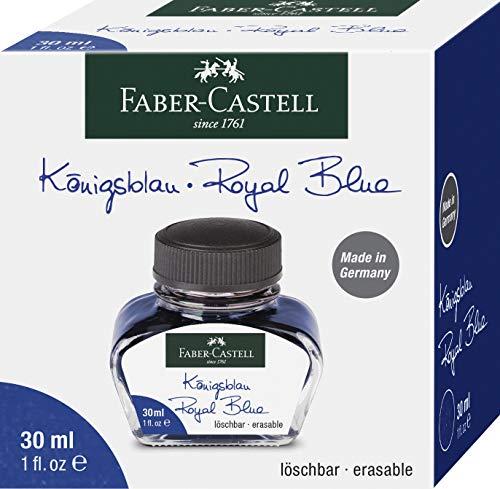 Faber-Castell 149839 Tintenglas, Löschbar, 30 ml Königsblau
