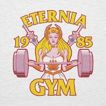 TEXLAB - She Fitness 1985 - Herren T-Shirt Weiß