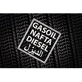 1 x autocollant diesel nafta gasoil r servoir essence avec chiffres arabes fun. Black Bedroom Furniture Sets. Home Design Ideas