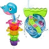 Kinder badespielzeug Delphin Badetier Wasserrad mit Becher und Saugnöpfe ,Farbe Mag Sich Unterscheiden