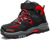 Scarpe da Escursionismo Stivali da Neve Scarpe da Trekking Unisex - Bambini(2 Nero/Rosso,40 EU)