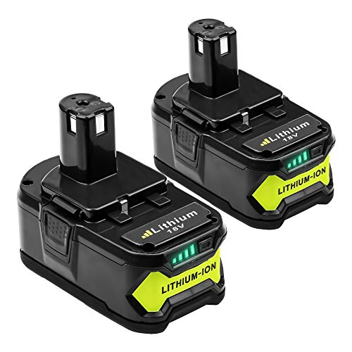 2 X DOSCTT Batterie Remplacement pour Ryobi RB18L50 18V 5,0Ah Li-Ion ONE+ RB18L50 RB18L40 RB18L25 RB18L15 RB18L13 P108 P107 P122 P104 P105 P102 P103
