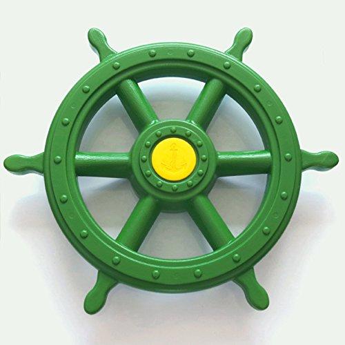 d Schiff apfelgrün mit Drehgeräusch Lenker für Spielturm Spielhaus ()