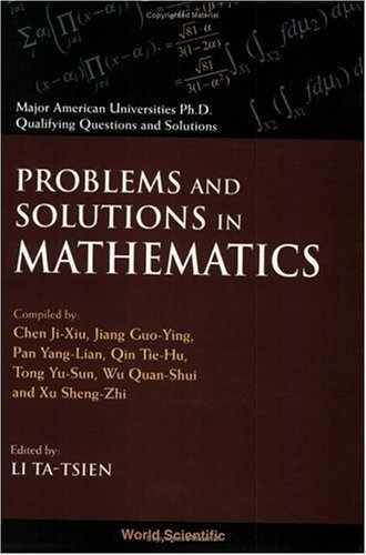 Problems and Solutions in Mathematics by Ji-Xiu Chen (1999-06-01)