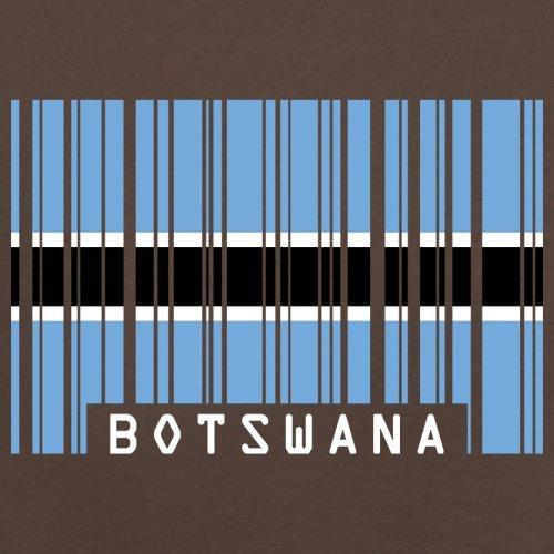 Botswana / Republik Botswana Barcode Flagge - Herren T-Shirt - 13 Farben Schokobraun