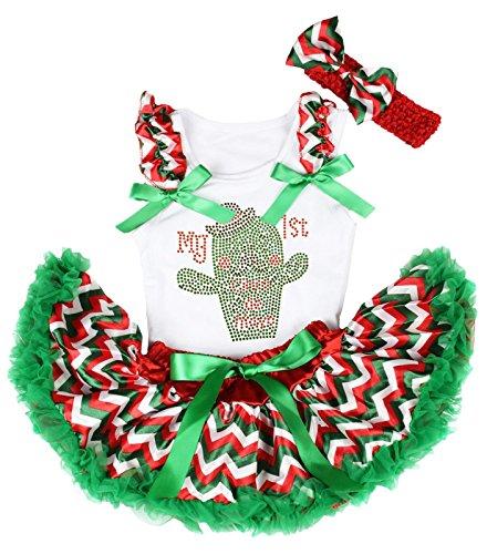 Petitebelle Mein 1. Cinco de Mayo-Kleid-RGW Chevron -Rock-Outfit Set 3-12M Einheitsgröße Weiß