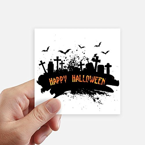 ght Friedhof Halloween Quadrataufkleber 10Cm Wand Koffer Laptop Motobike Aufkleber 8Pcs 10cm x 10cm Mehrfarbig ()