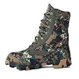 nihiug Männer High Rise Wanderschuhe Lace Up Outdoor Camouflage Armee Stiefel Commando Outdoor Combat Boots Wüste Taktische Stiefel,Green-41