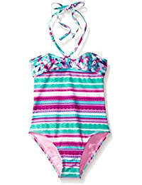 LiMiTeD Too Girls' Aztec/Animal Mix 1pc Swim