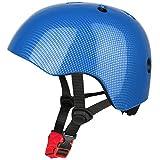 Six Foxes Fahrradhelm Kinder - Verstellbare Leichtgewicht Sicherer Kinderhelm, Fahrrad Skating Roller Helm für 3 bis 8 Jahre Mädchen Jungen, 48-54 cm (Blau)