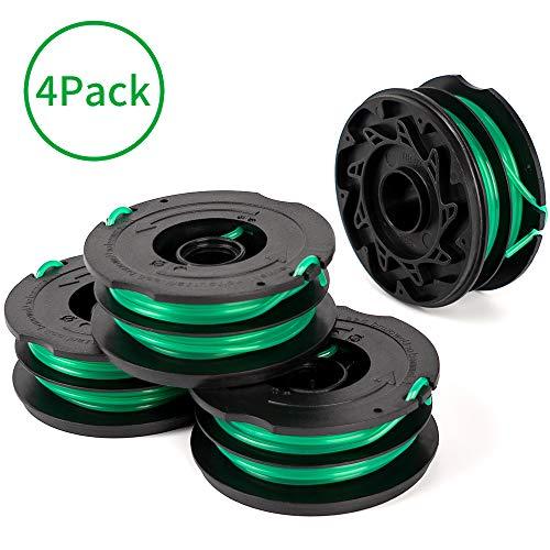 X Home Fadenspule kompatibel mit Black + Decker Weed Eater String GH Edger Ersatzspule 4 Pack DF-080 for GH1000 GH1100 GH2000
