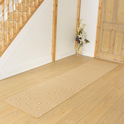 Square Beige - Long Hall & Stair Carpet Runner