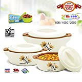 #4: BMS GoodDay Plaza Insulated Hot Pot Casserole Gift Set, 3 Pcs ,With FREE 650ML Bowl