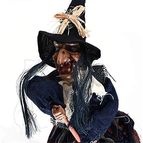 MokaHW Halloween Horror Ghost Festival Tür Bar Club Spukhaus Flucht Dekoration Horror Scary Hanging Ghost Fliegende Hexe Kleiderbügel - Flucht Baby Kostüm