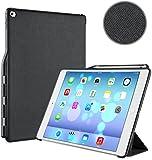 iVAPO Pencil Holder iPad Pro 12.9 Case PU Leather Stand Function iPad Pro 12.9 Folio Cover Auto Wake/ Sleep Feature 12.9 Case (Black)