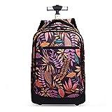 BAG Hochschule Schule Mädchen Wagen Rucksack Gepäck Floral Trolley für Teenager Mädchen Flower Gepäcktasche für Laptop,B