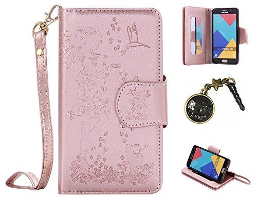 PU Coque Samsung Galaxy A5 (2016) A510F A5100 ,PU Cuir Portefeuille Etui Housse Case Cover portefeuille,carte de crédit Fentes pour (9 fente) ,idéal pour protéger votre téléphone + Bouchons de poussière (7VH)