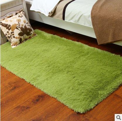 Kanggest Alfombras para Salón Modernas Dormitorio Antideslizante Alfombra, 50*80cm, Verde