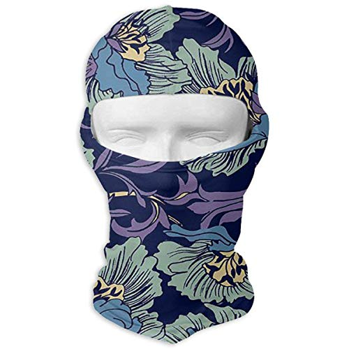 Wfispiy Lila romantische Blumen einzigartige Stirnband Gesichtsmaske Balaclava Motorrad Protect Blume-sauce